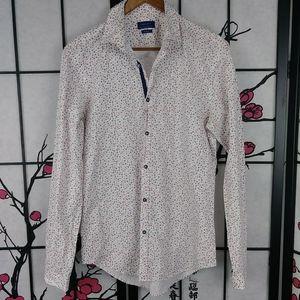 Zara Man Floral Retro Print Slim Fit Shirt